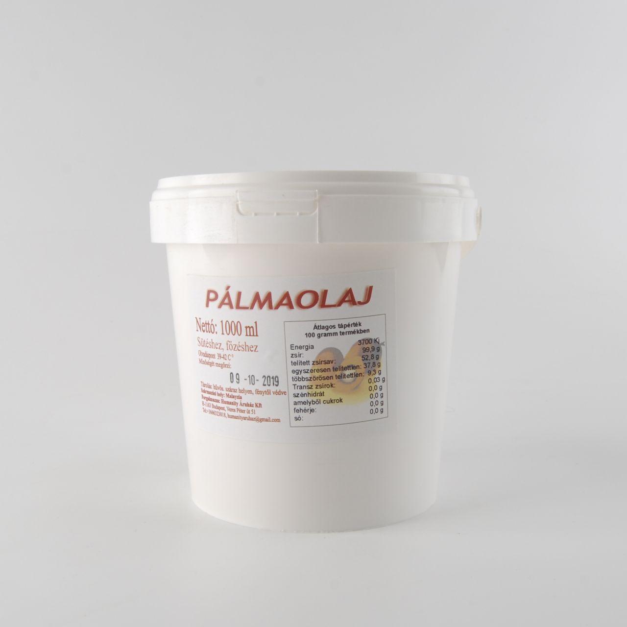 Pálmazsír / pálmaolaj 1 l vödrös