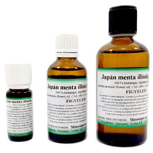 Japán Menta 100% tisztaságú, természetes illóolaj