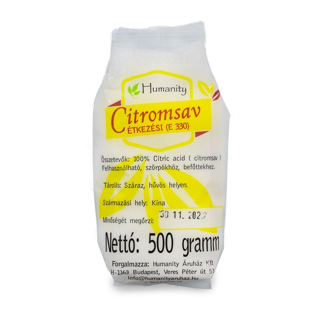 Étkezési citromsav 500 gramm