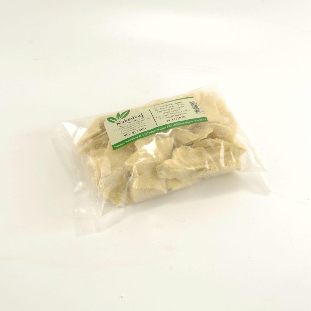 Kakaóvaj 100% (nem dezodorált) 500 gramm