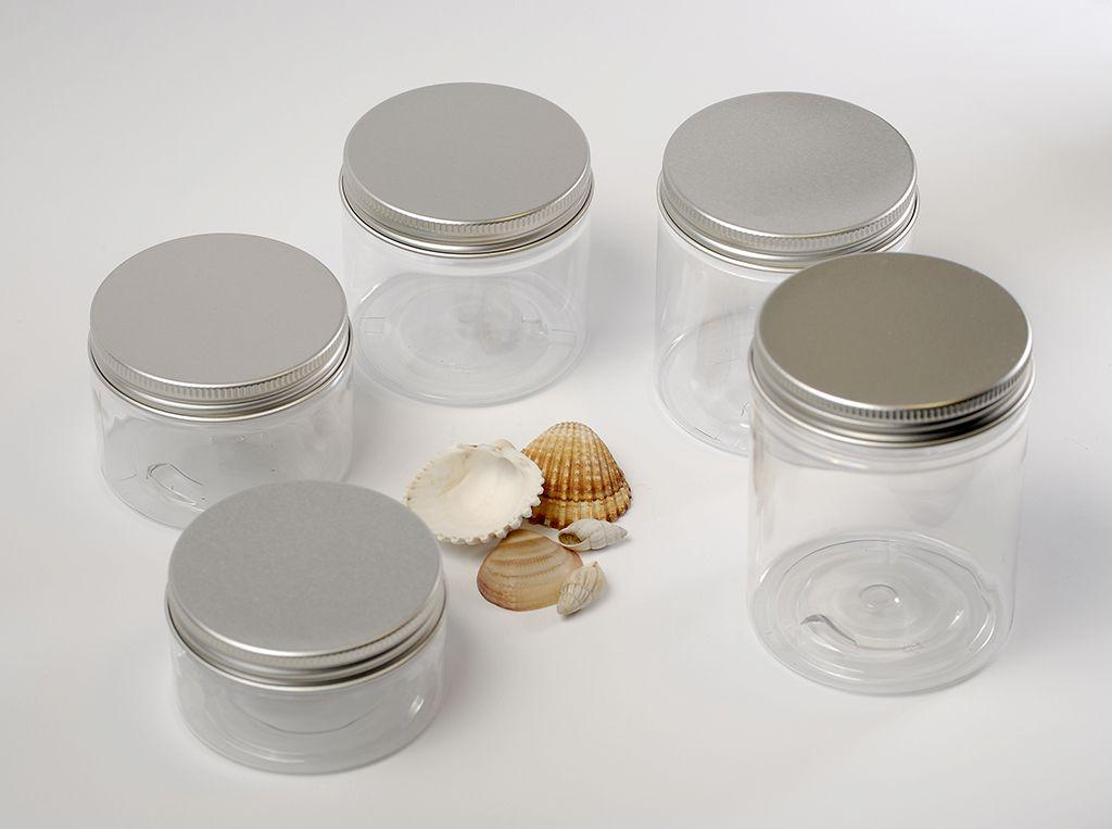 PET kozmetikai tégely, alu tetővel 100 ml -es