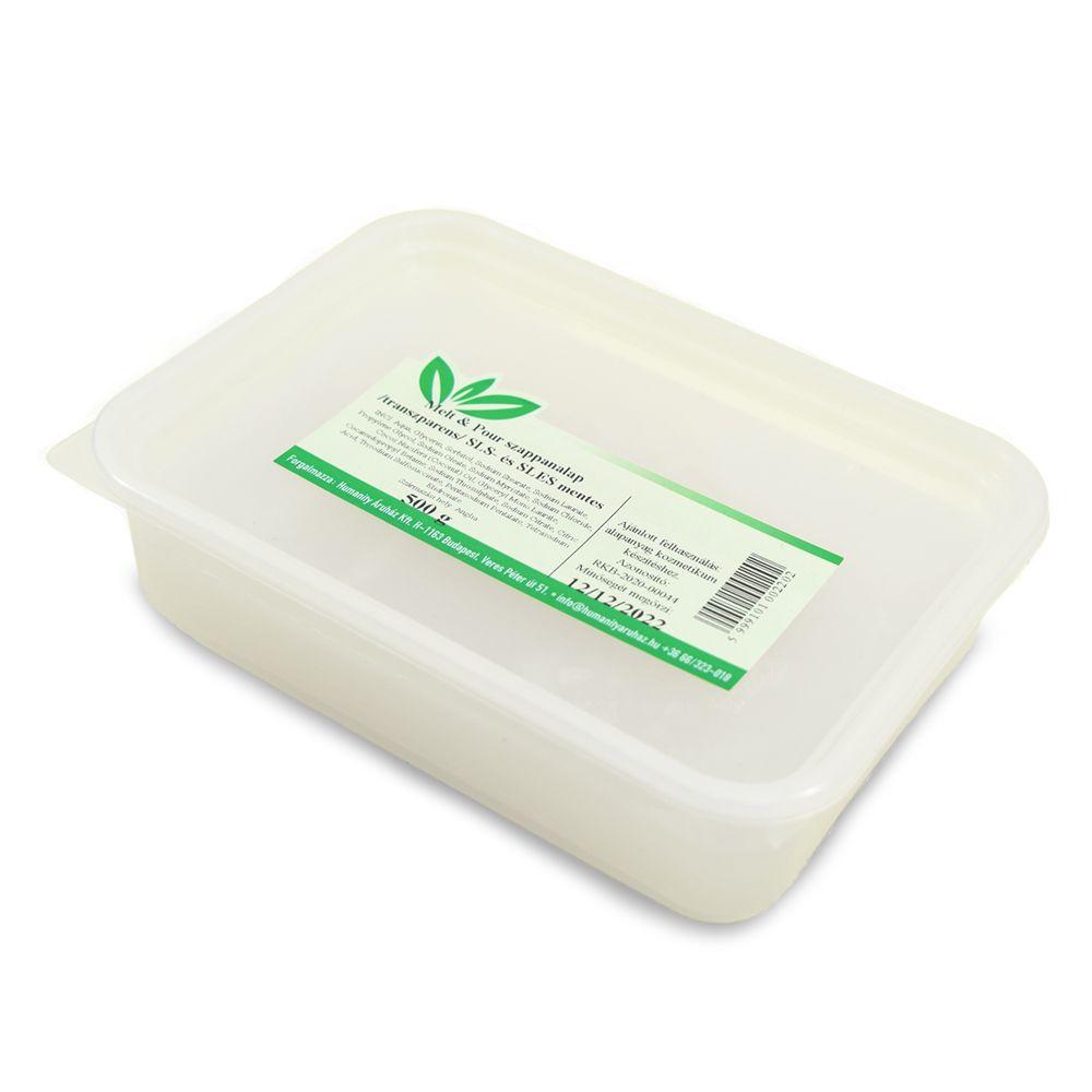 Melt & Pour transzparens / átlátszó szappanalap 500 gramm