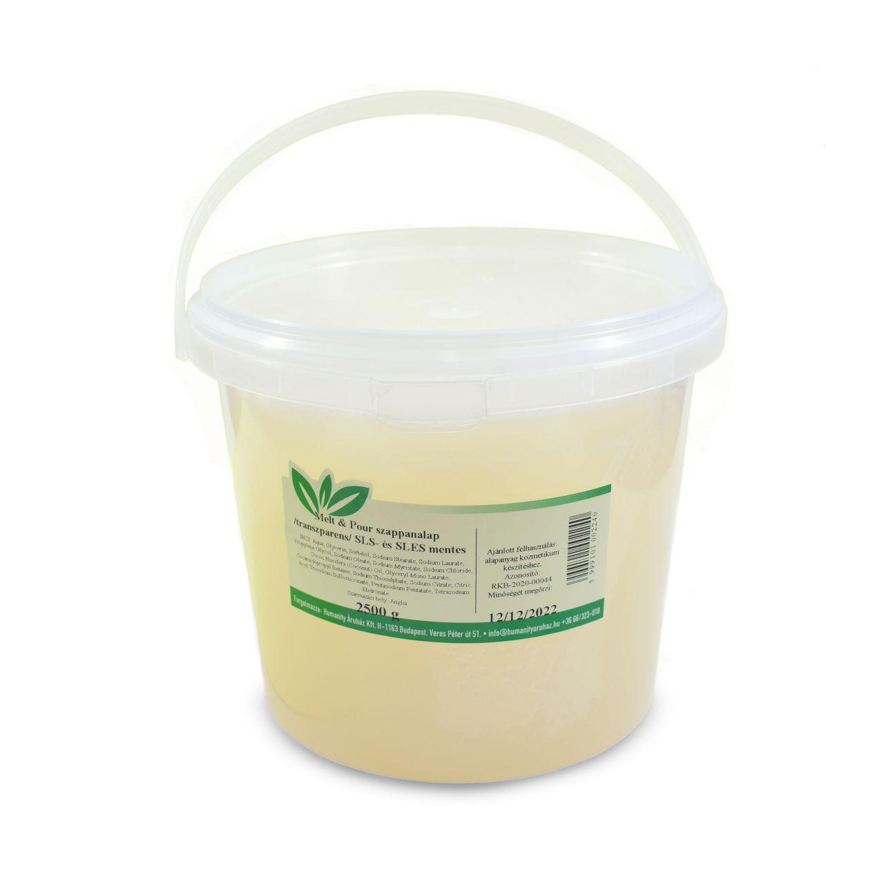 Melt & Pour transzparens szappanalap 2,5 kg