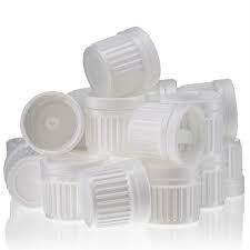 Illóolajos üveghez kupak, cseppentőbetétes DIN-18