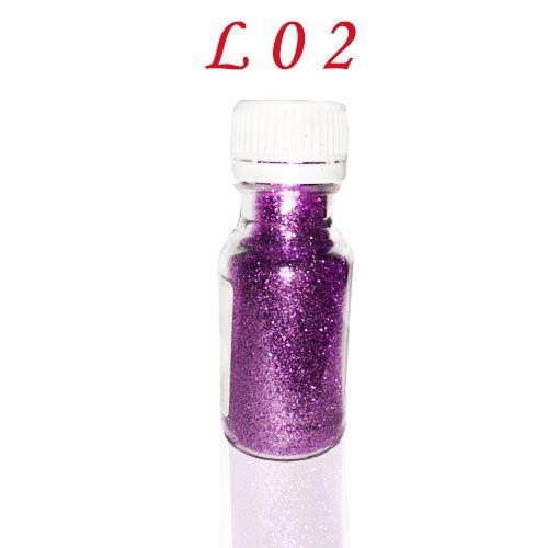 Lila színű csillámpor L02