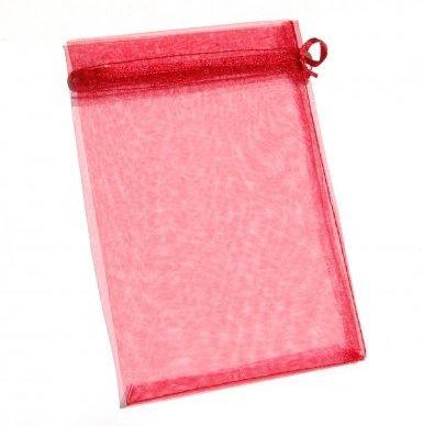 Organza tasak rubinpiros 50 db/csomag