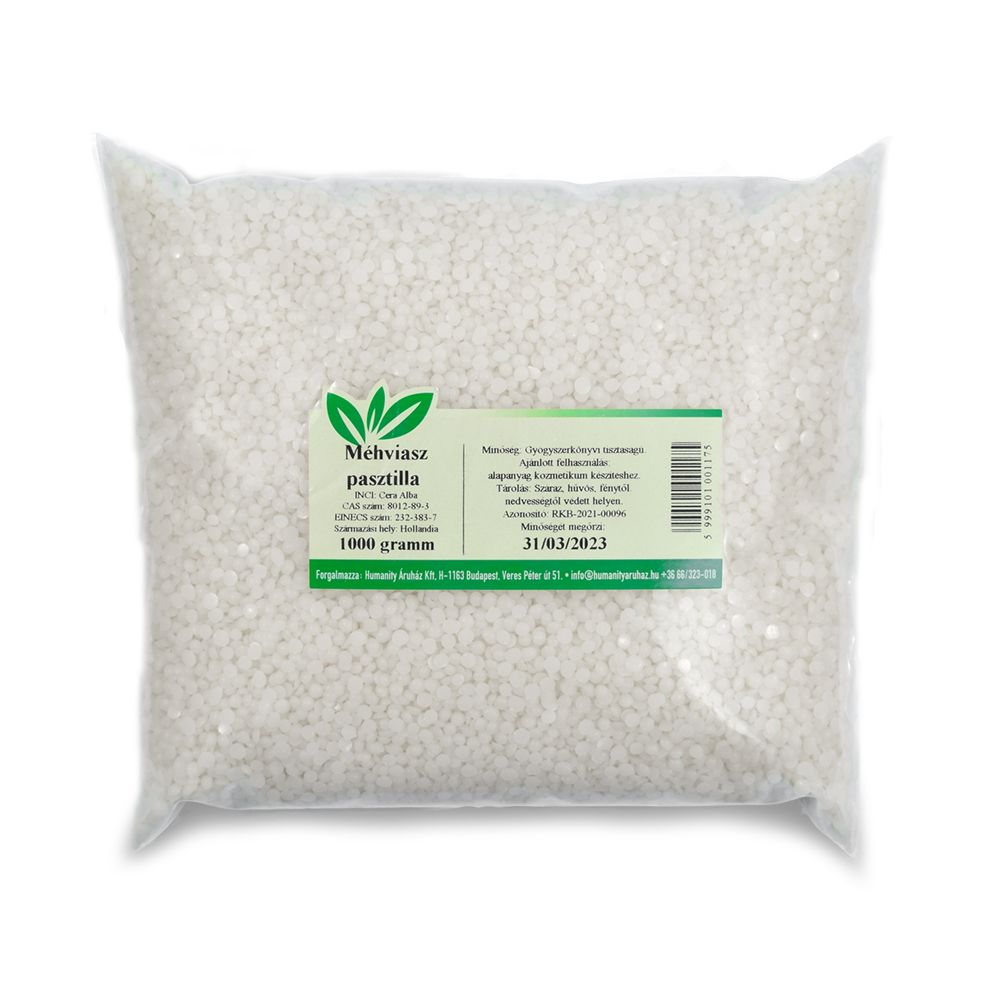 Méhviasz pasztilla Ph.Eur (fehér) 1000 gramm