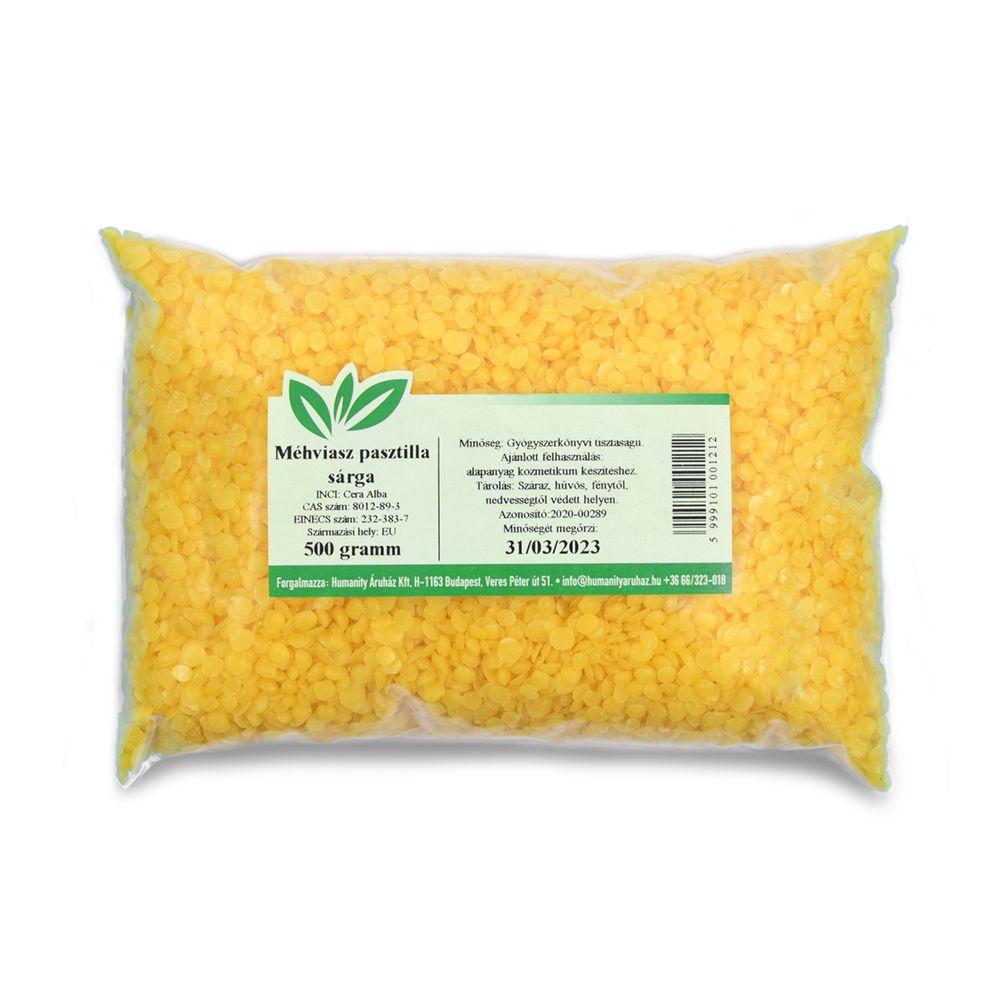 Méhviasz pasztilla Ph.Eur (sárga) 500 gramm