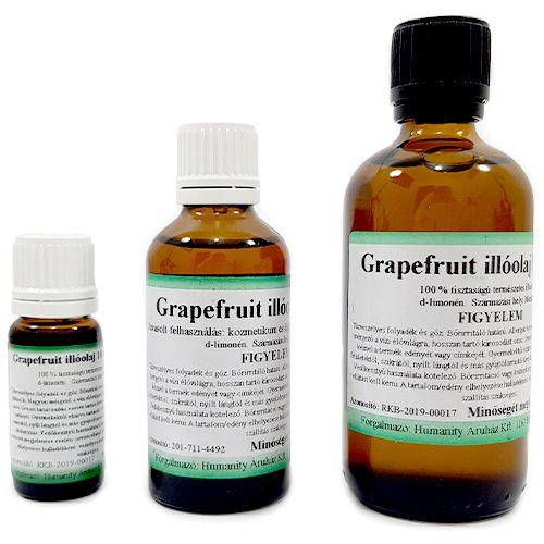 Grapefruit 100% tisztaságú, természetes illóolaj 100 ml