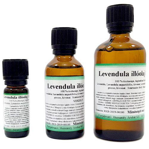 Levendula 100% tisztaságú, természetes illóolaj 100 ml