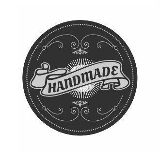 Körcímke 20 db/cs Handmade fekete