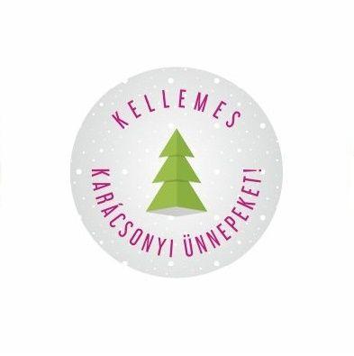Karácsonyi körcímke 20 db/cs Kellemes karácsonyi ünnepeket