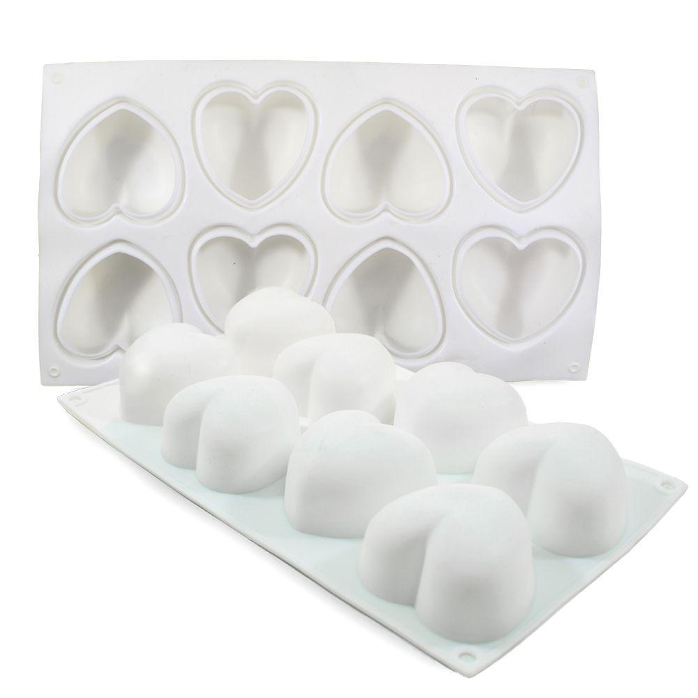 Szilikon forma szív 8 részes