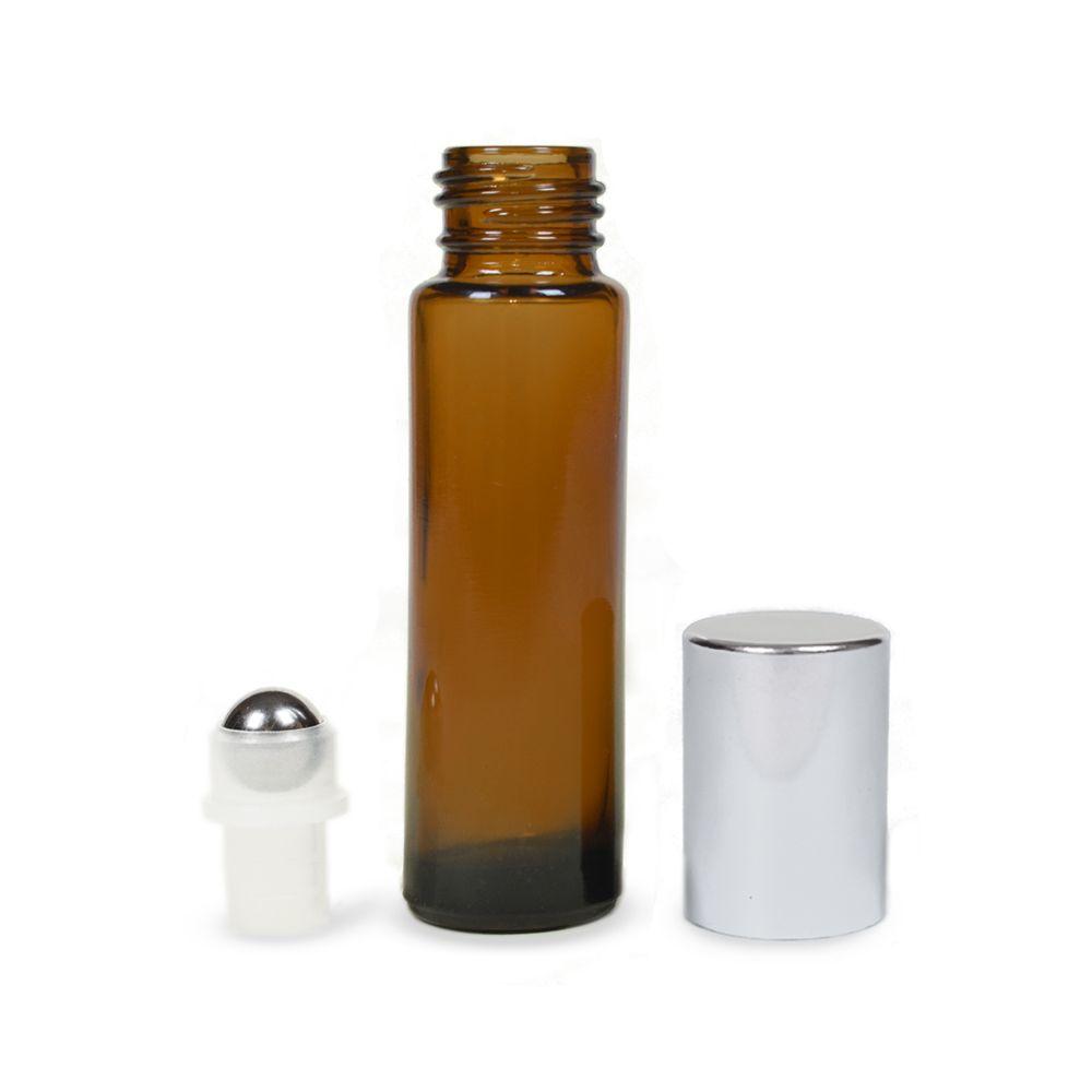 Mini golyós üveg 10 ml ezüst kupakkal