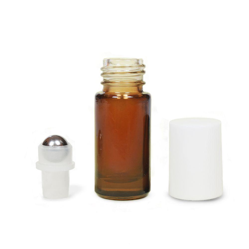 Mini golyós üveg 5 ml fehér kupakkal