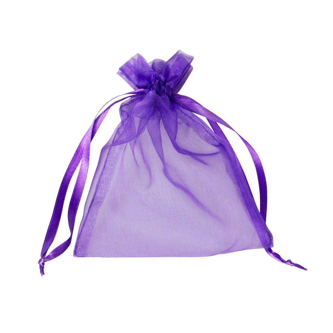 Organza tasak ametiszt lila 10 db/csomag 10 x 15 cm-es