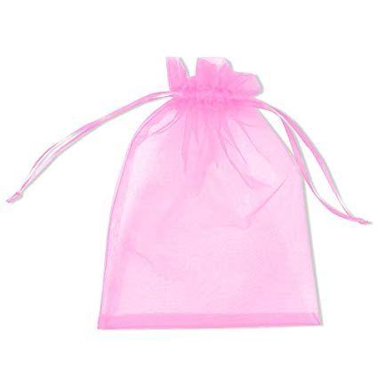 Organza tasak flamingó rózsaszín 50 db/csomag 10 x 15 cm-es