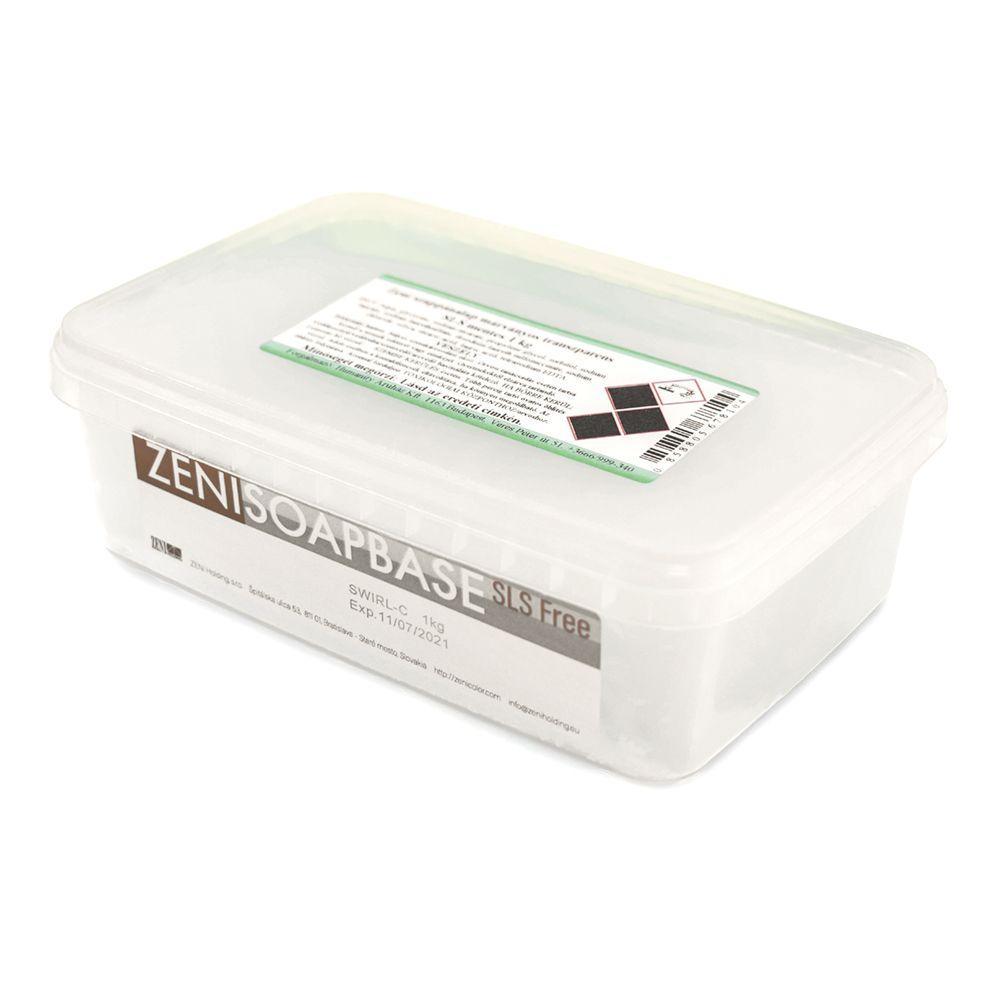 Zeni márványos SLS-mentes szappanalap (transzparens) 1 kg