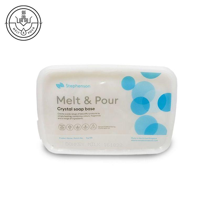 Melt & Pour szamártejes szappanalap 1 kg